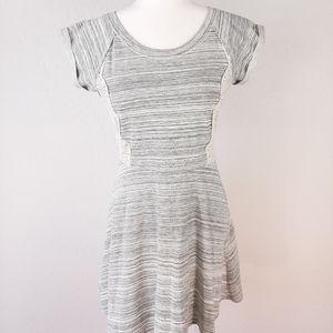 Xhilaration Heather Grey White Lace Dress S
